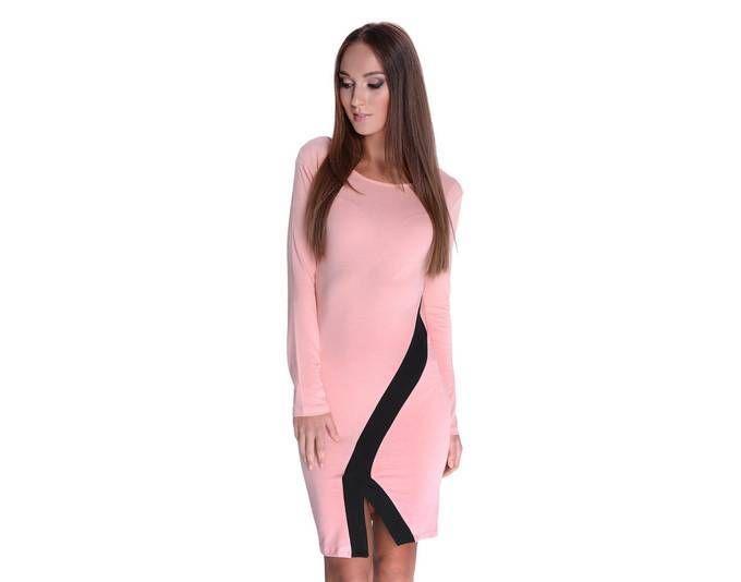Damen Elegant Kleid Dress Langarm Cocktailkleid Abendkleid ...