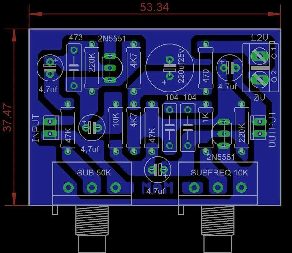 Pcb Subwoofer Frequency Adjust Audiophile In 2018 Pinterest Car Audio Schematics Diy Amplifier Speakers Circuit Diagram