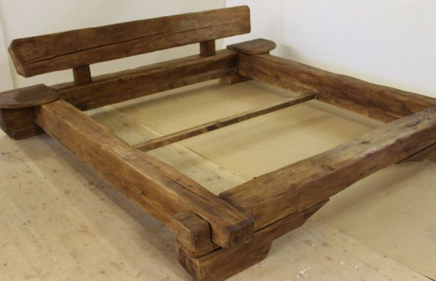 Reclaimed wood furniture has character This bed made of old wood beams age about 300 years  Reclaimed wood furniture has character We can supply this bed made of old wood...