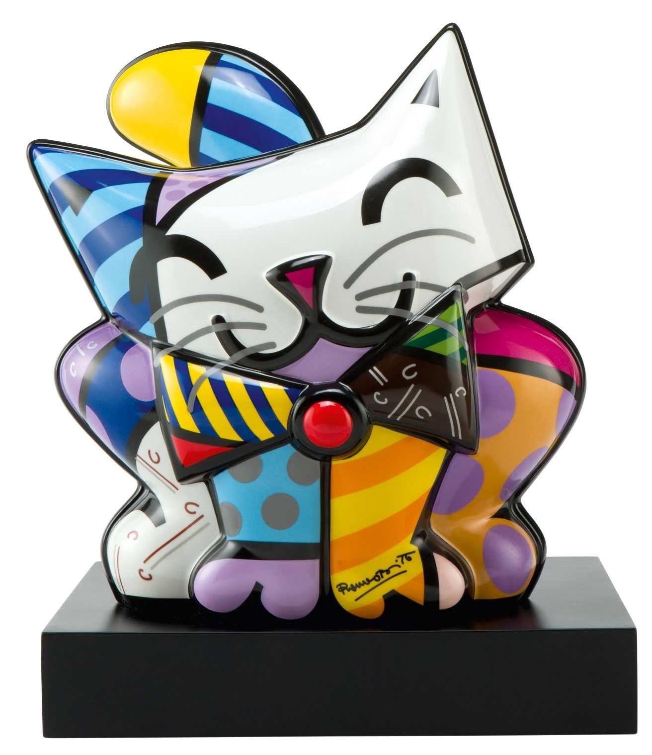 Romero Britto Figura de Porcelana GATO AZUL 27 x 30 5cm 314
