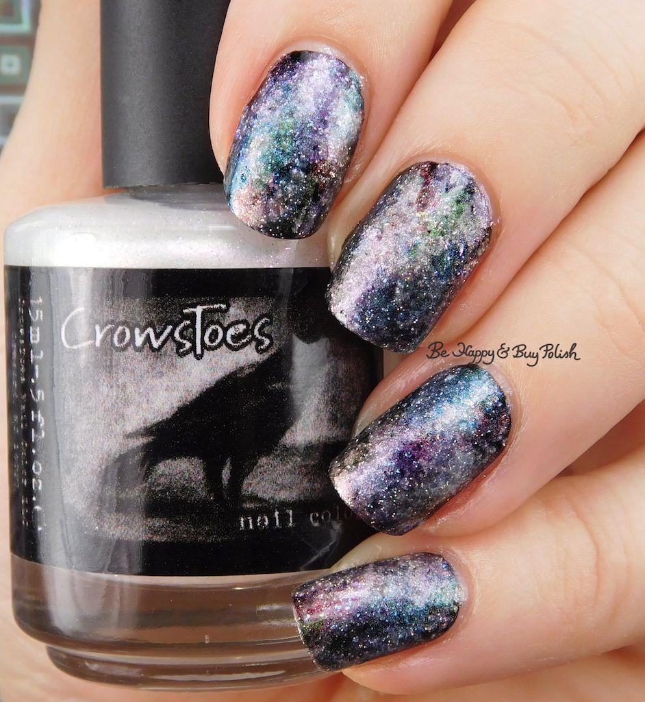 CrowsToes Nail Color Pearls of Wisdom galaxy nail art | Galaxy nail ...
