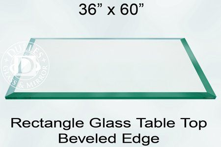 Amazon.com: 36x60 Inch Rectangle Glass Table Top, 1/4 Inch Thick