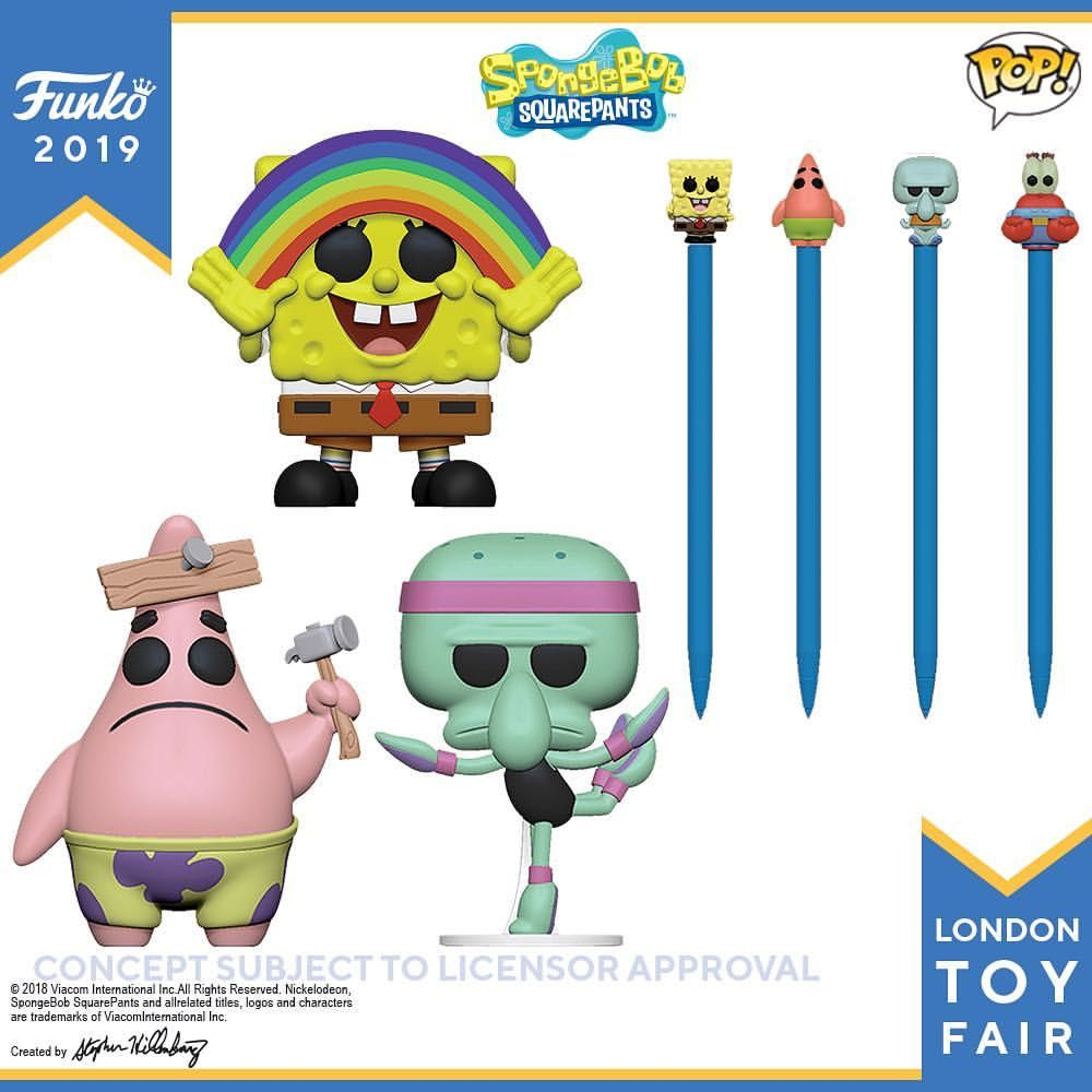 London Toy Fair Reveal Spongebob, London toy, Funko