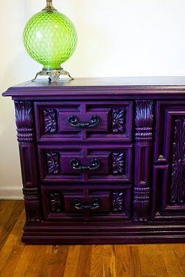 modernly shabby chic furniture barney the purple dresser