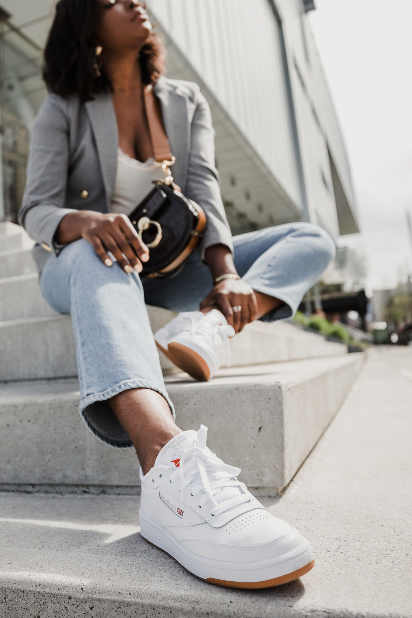 agrio comerciante implícito  OOTD feat. Reebok Club C 85 Sneakers » coco bassey | Reebok white sneakers,  Reebok club c, White sneakers women