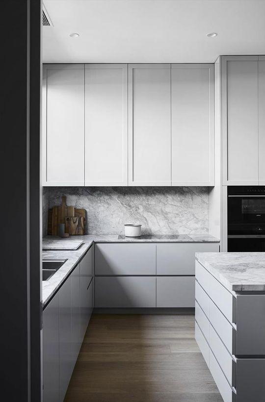 Photo of 25 idee di arredamento da cucina senza tempo grigie Diyundhaus.com
