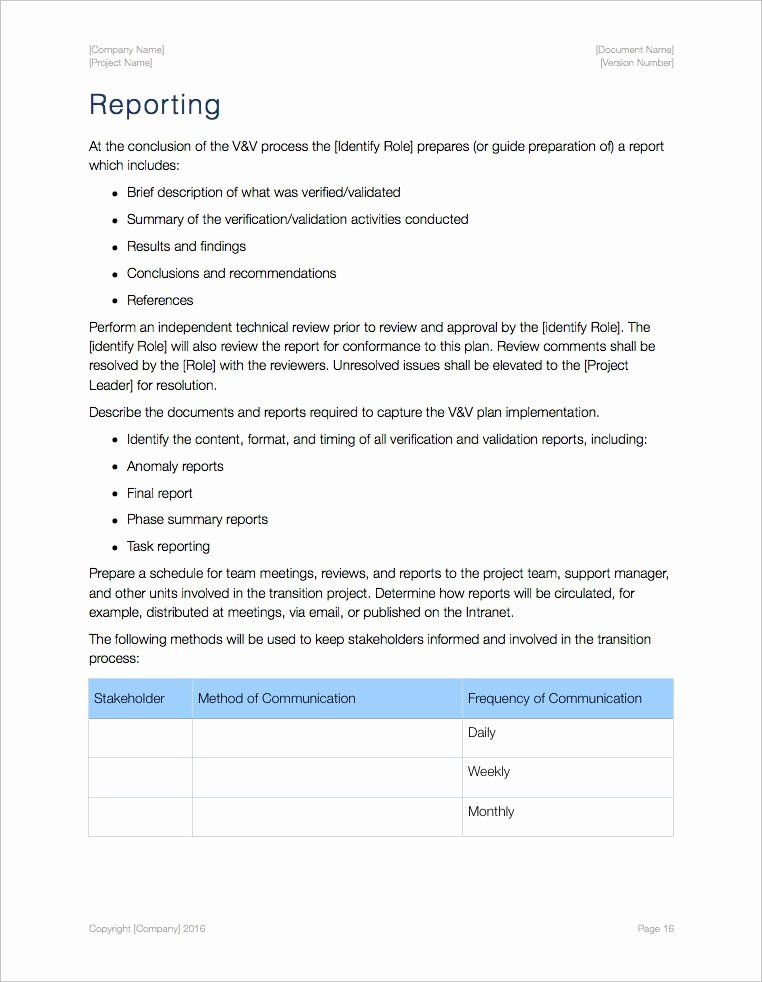 Software Validation Plan Template in 2020 How to plan