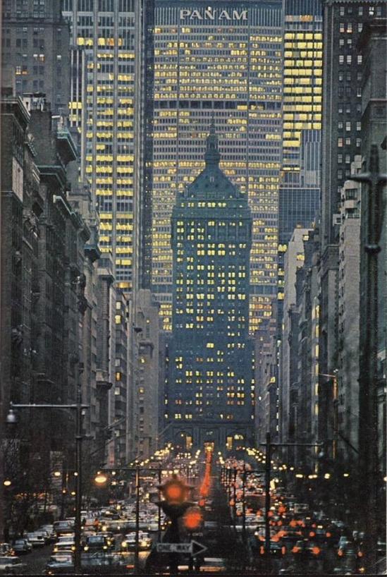 Park Avenue In New York City, 1964