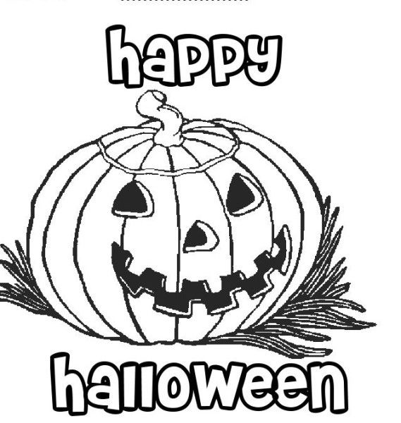 Halloween 2016 Coloring Pages | 2017 Calendar | Pinterest | Happy ...