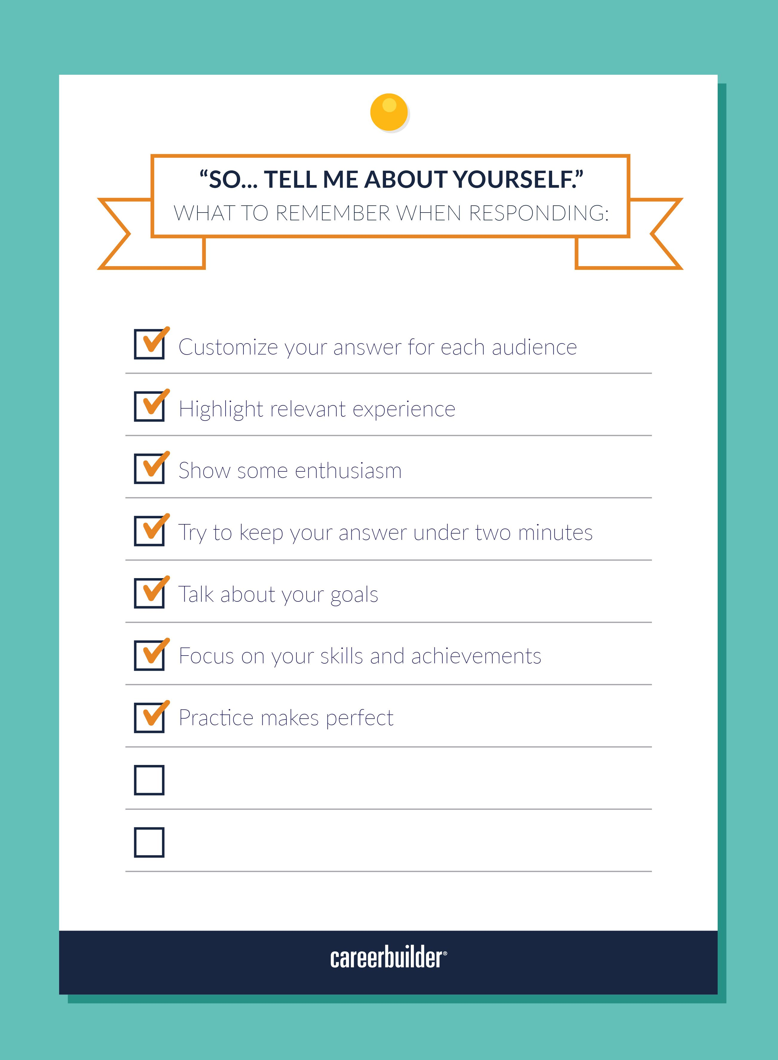 Tell Me About Yourself Should Be An Easy Question To