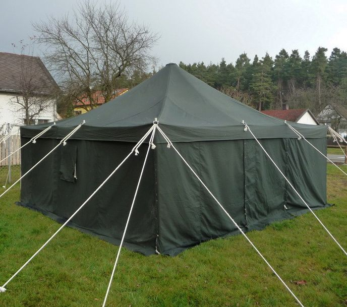 5x5 Metre Canvas Military Marquee (Various Colours) & 5x5 Metre Canvas Military Marquee (Various Colours)   Tents   Tent ...