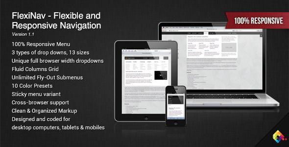FlexiNav - Flexible and Responsive Navigation - CodeCanyon Item for Sale