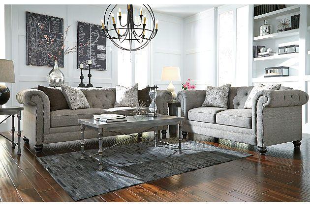 Charcoal Ardenboro Loveseat View 3 Interior Design