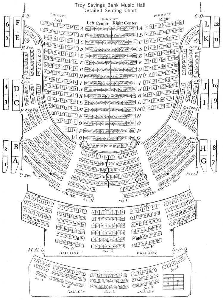 Chicago Theatre Seating Chart Detailed Di 2020
