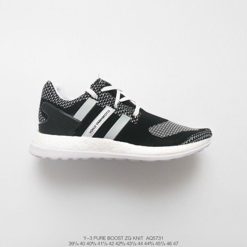 reputable site 22808 0d547 Adidas Y3 Pure Boost Black White,AQ5731 Mens Adidas Y-3 Pure ...