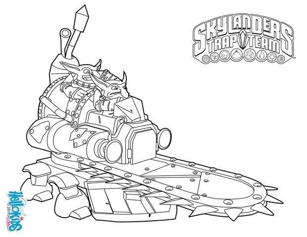 Skylanders Trap Team Coloring Pages Shrednaught Coloring Pages Super Coloring Pages Cartoon Coloring Pages