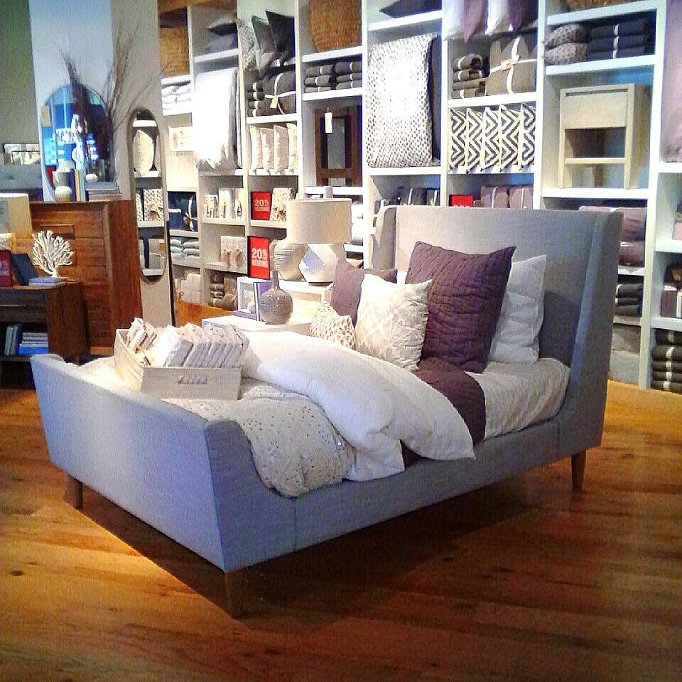 Upholstered Sleigh Bed at West Elm. LOVE it!! Can't wait