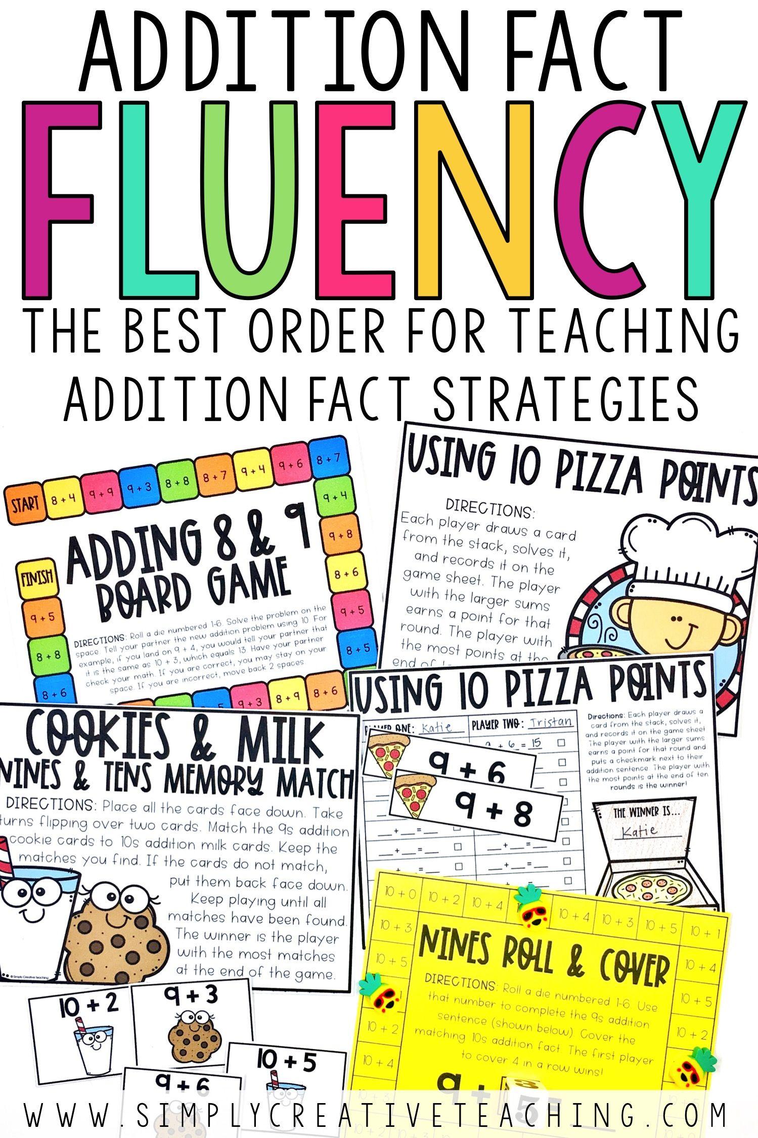 Addition Fact Fluency Strategies