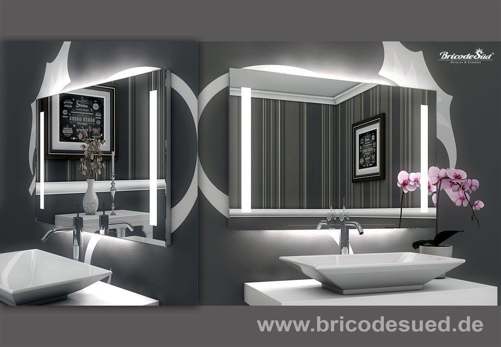 Details zu LED Badspiegel Wandspiegel mit Lichtspiegel mit LED - badezimmerspiegel mit led