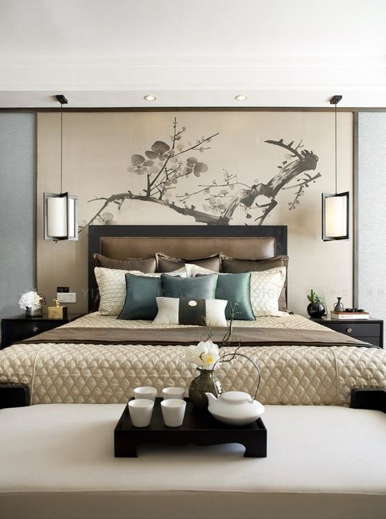 Amazing Lovely Warm Bedroom With An Asian Flair Amazing Ideas