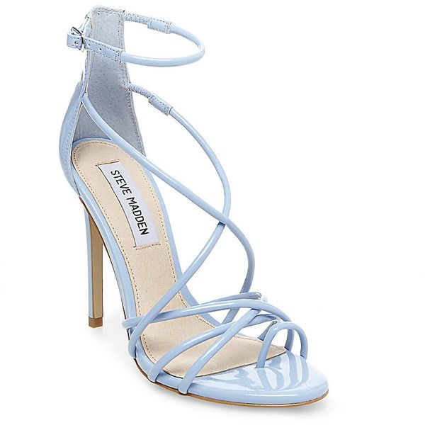 9a7765d7731 Steve Madden Women's Satya Stilettos Heels ($90) ❤ liked on Polyvore  featuring shoes, pumps, buty, baby blue patent, summer pumps, strappy shoes,  high heel ...