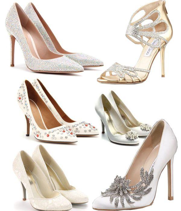 #Weddingshoes #Bling #Glitter #White #Silver #Gold