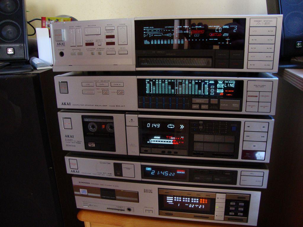 Chaine Akai 1985 Hifi Audio Audio Rack Vintage Electronics