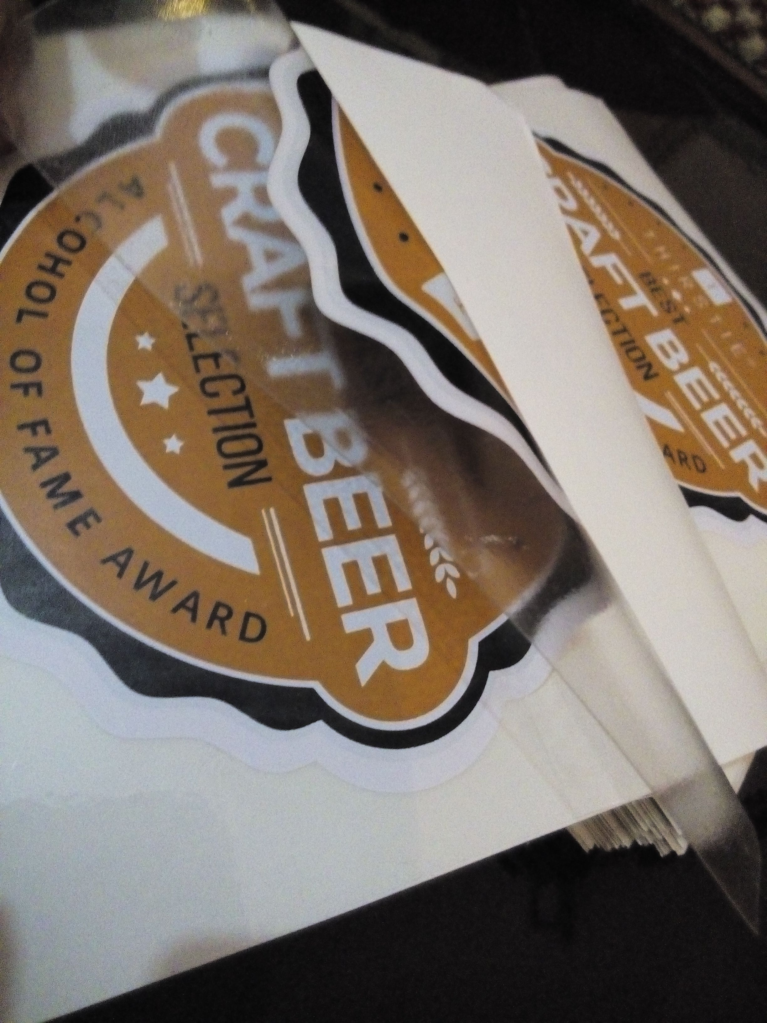 Beer Bottle Double Sided Stickers A Remarkable Promotional - Promotional products stickers and decals