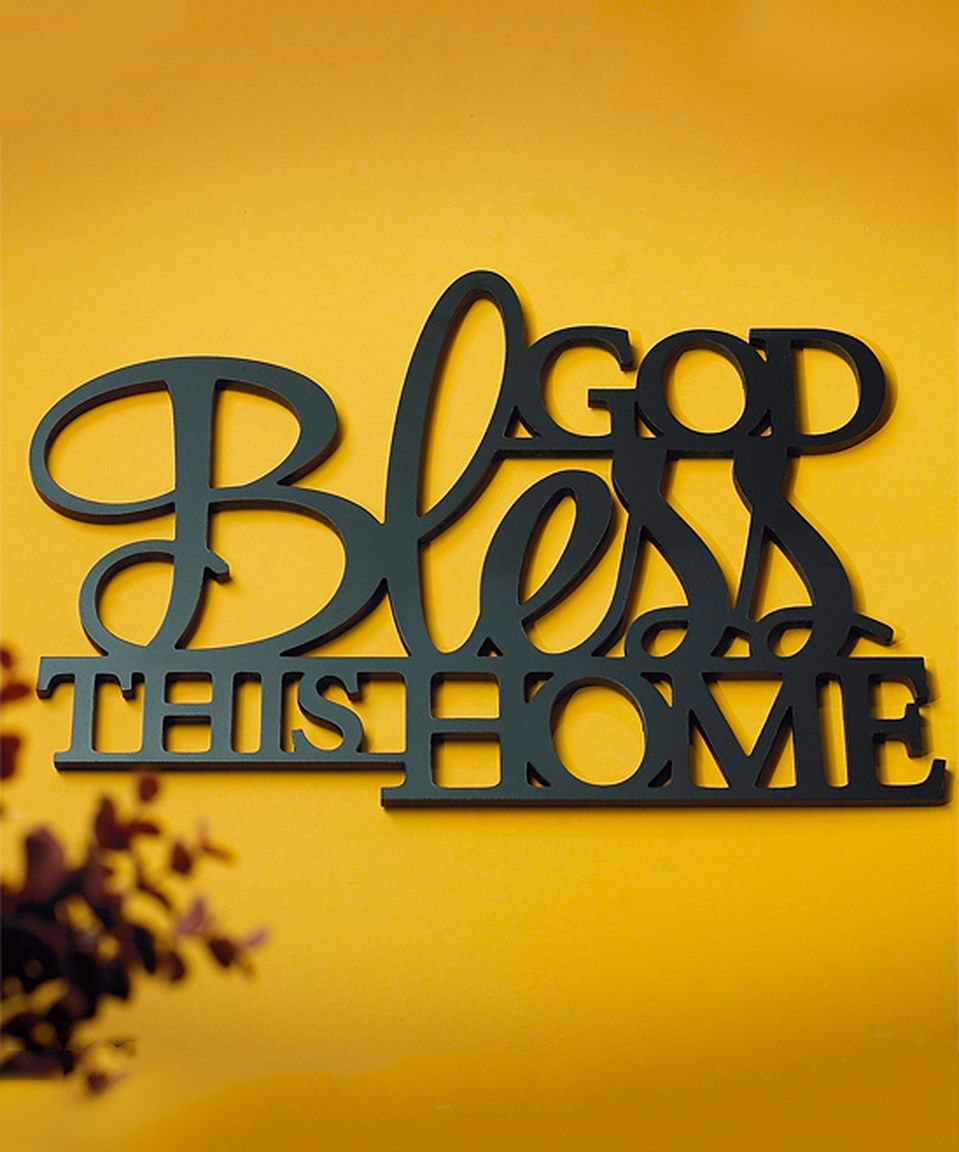 Look what I found on #zulily! \'God Bless This Home\' Wall Sign by ...
