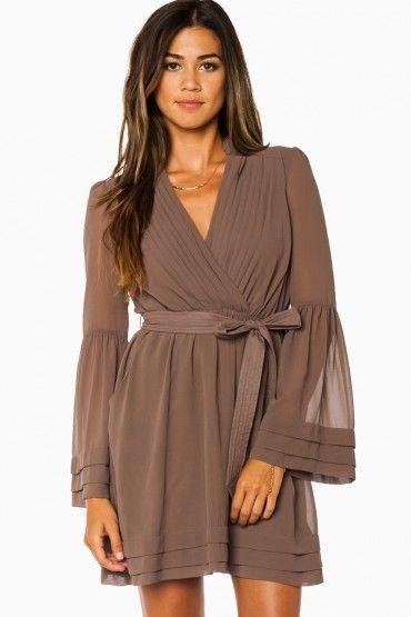 1e7a9fe124d151 Rorey Wrap Dress in Mocha