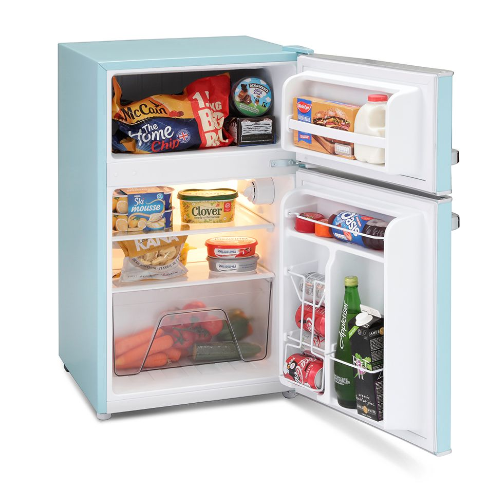 Montpellier Mab2030pb Mini Retro Fridge Freezer Undercounter Mini Fridge In Bedroom Retro Fridge Mini Fridge With Freezer