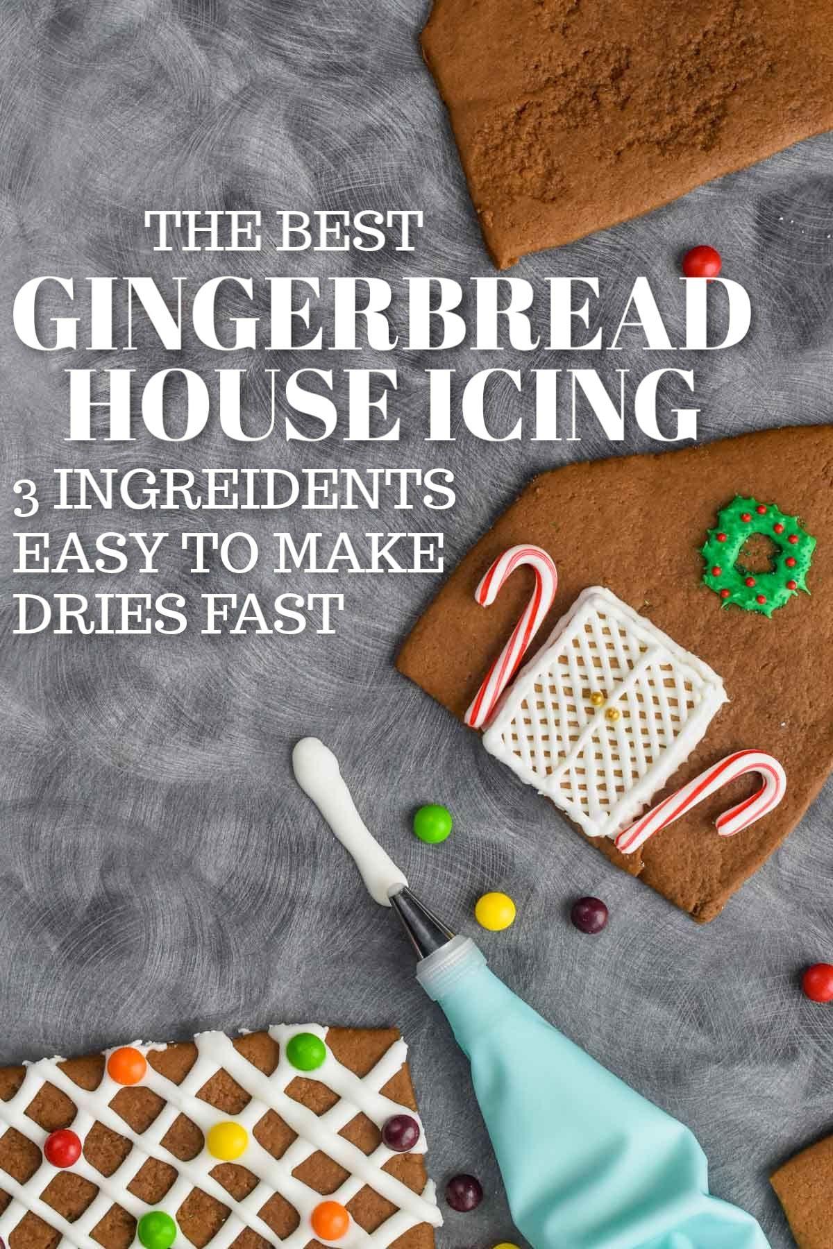 Gingerbread House Icing #royalicingrecipe