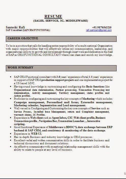 Download Resume Sample Sample Template Example Ofexcellent