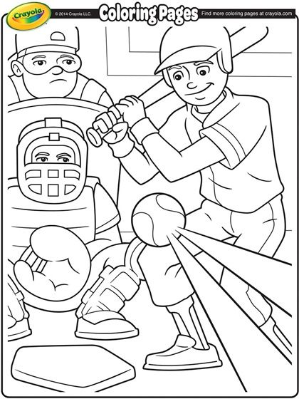 Celebrate baseball season with these fun coloring pages to for Baseball coloring pages for kids