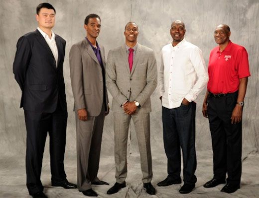Rockets Big Men., The Person In The Middle Is 7- Foot Tall