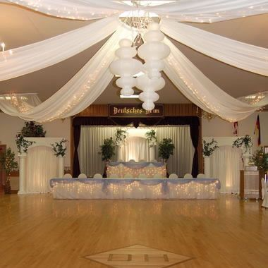 6 Panel Ceiling Draping Kit Hardware Only Wedding Ceiling Wedding Hall Decorations Ceiling Decor