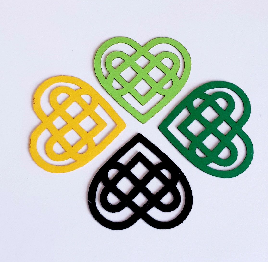 Celtic Heart Knot Design Die Cut Out Irish Decoration, St Patricks Day Decor