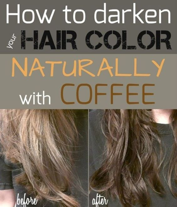 How To Darken Your Hair Color Naturally With Coffee - All ...