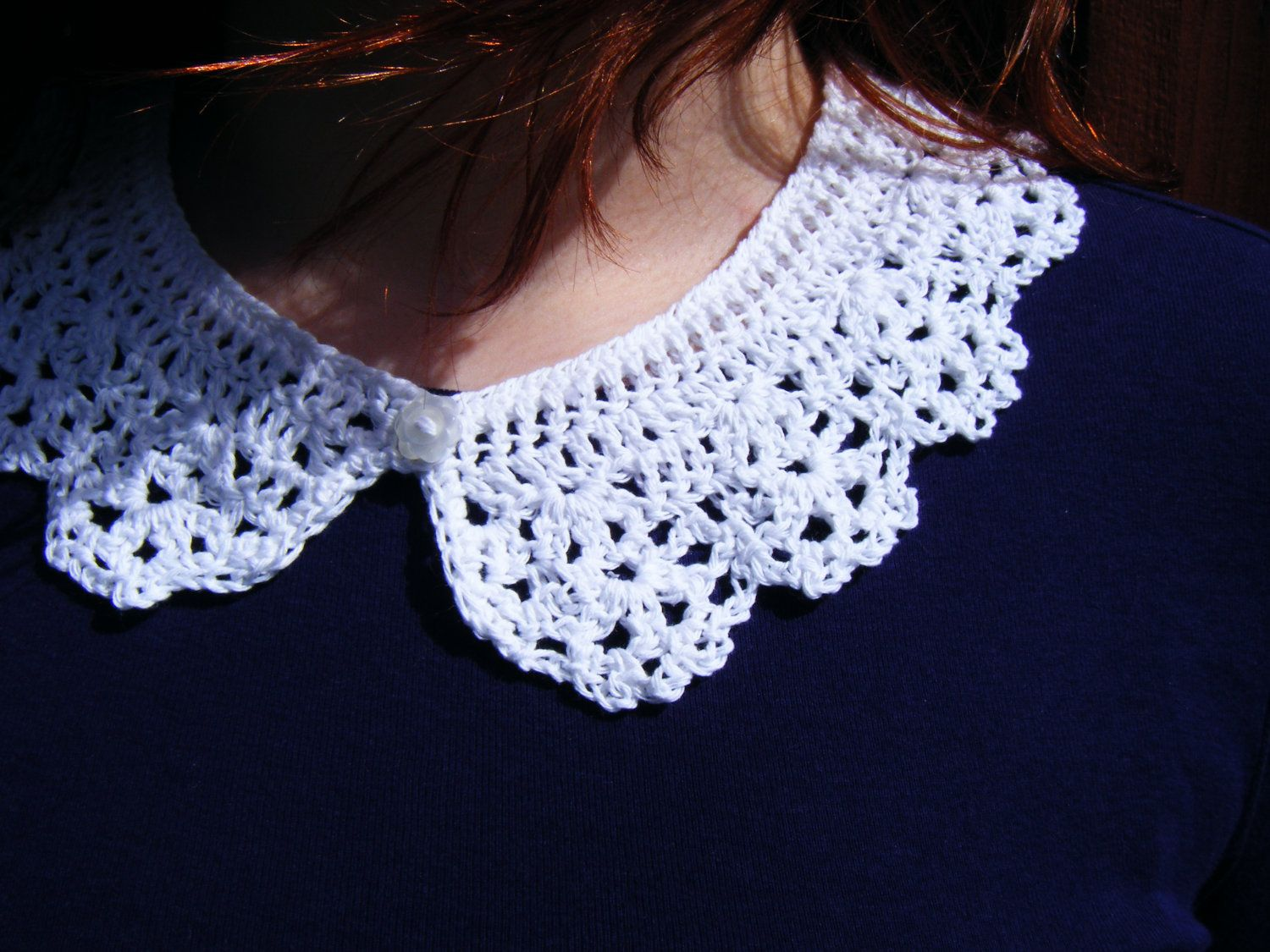 Collar love me some outfits pinterest lace lace collar and white crochet collar necklace peter pan detachable by corcra bankloansurffo Image collections