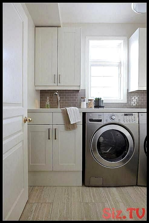Nest Design Studio laundry mud rooms white and gray laundry room laundry room mi..., #Design...