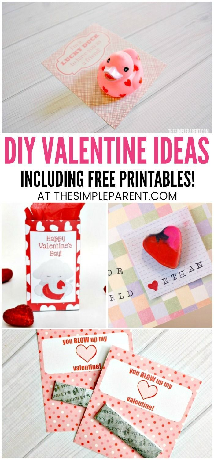 Printable Valentines Diy Valentine Ideas For Kids Easy