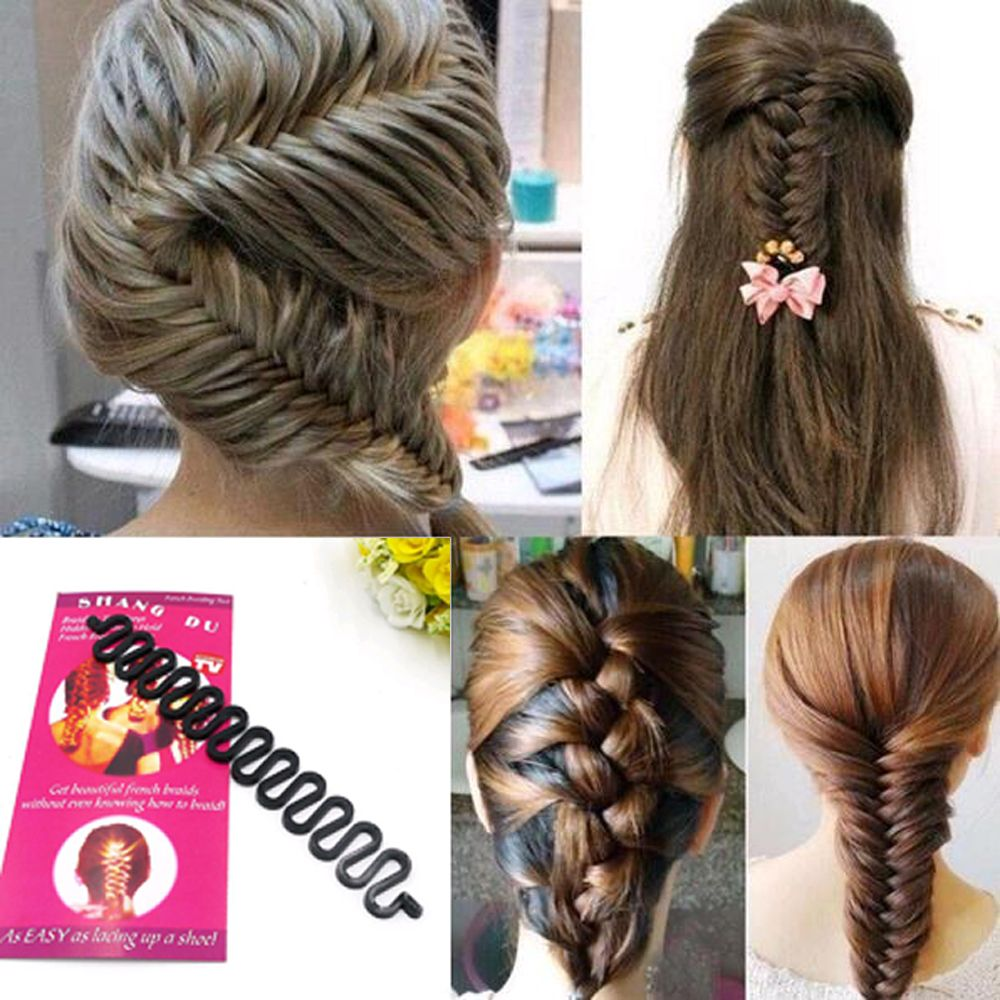 French Hair Braiding Tool Roller With Hook Easy Plait Twist Styling Bun Maker