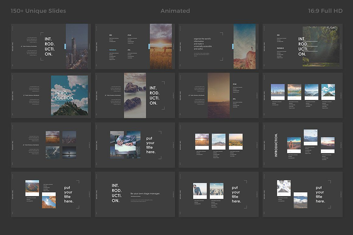 dark powerpoint templatehaluze on @creativemarket, Modern powerpoint