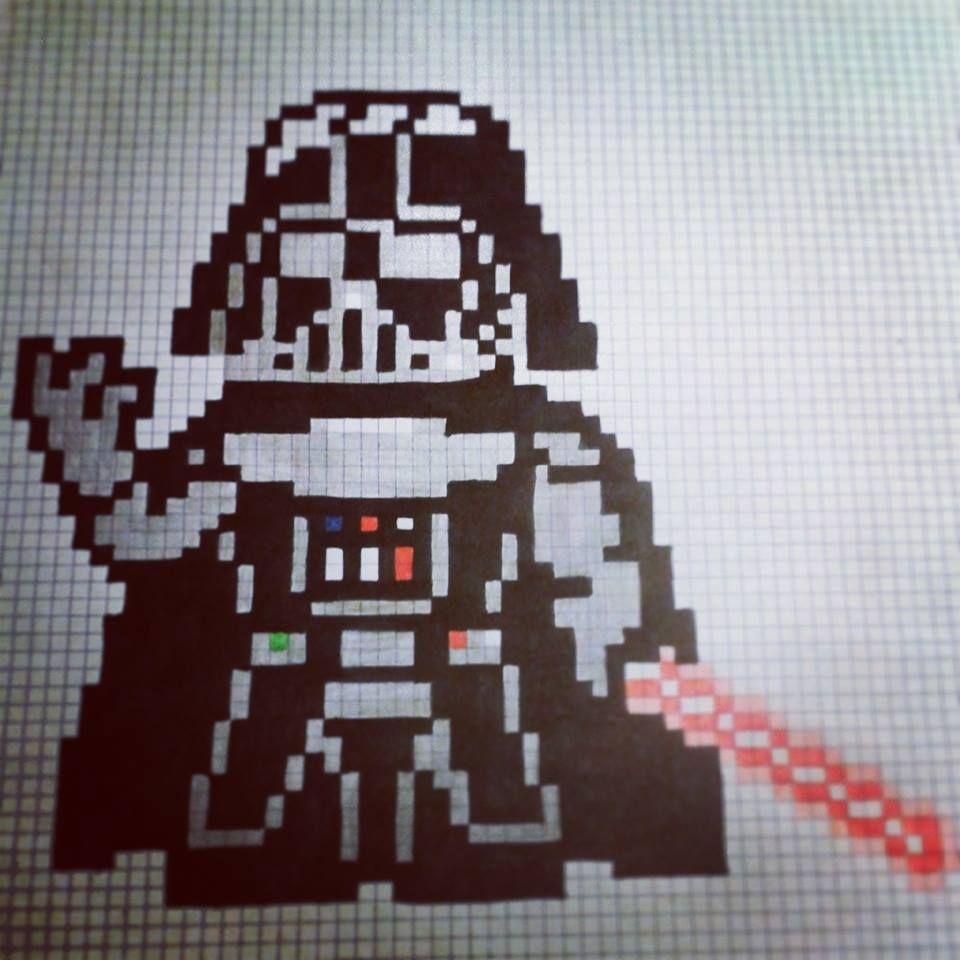 Darth Vader Dessin Pixel Dessin Et Dessin Pixel Facile