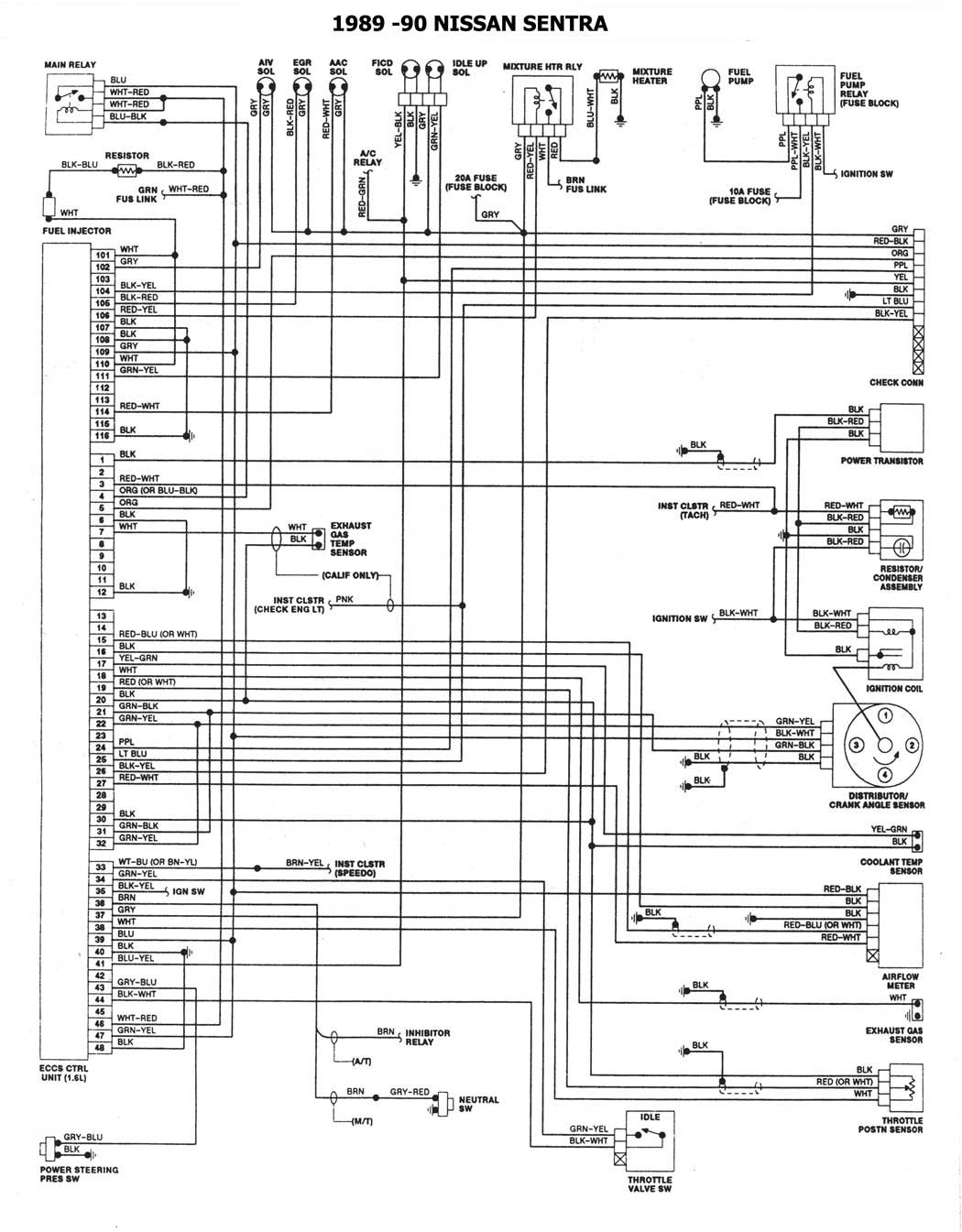 Diagrama Sistema Electrico Nissan Tsuru 5 Nissan Diagram Floor Plans
