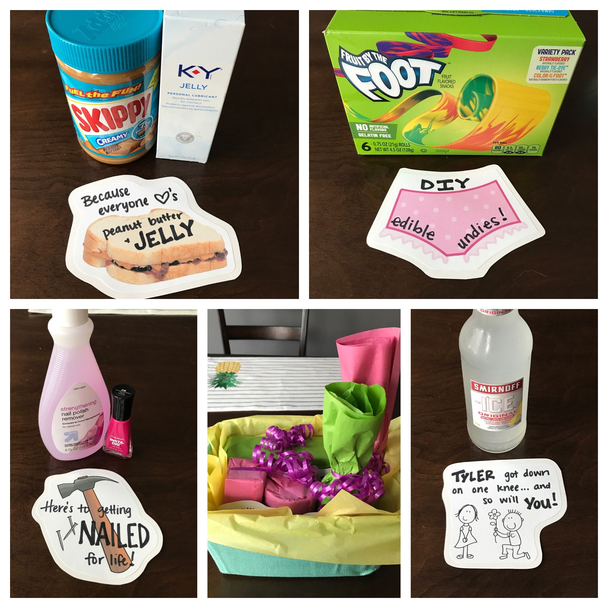 Bachelorette Party Gift Semi Naughty Punny Diy Gift Basket Bachelorette Party Gifts Funny Bride Gift Diy Bridal Shower Gifts