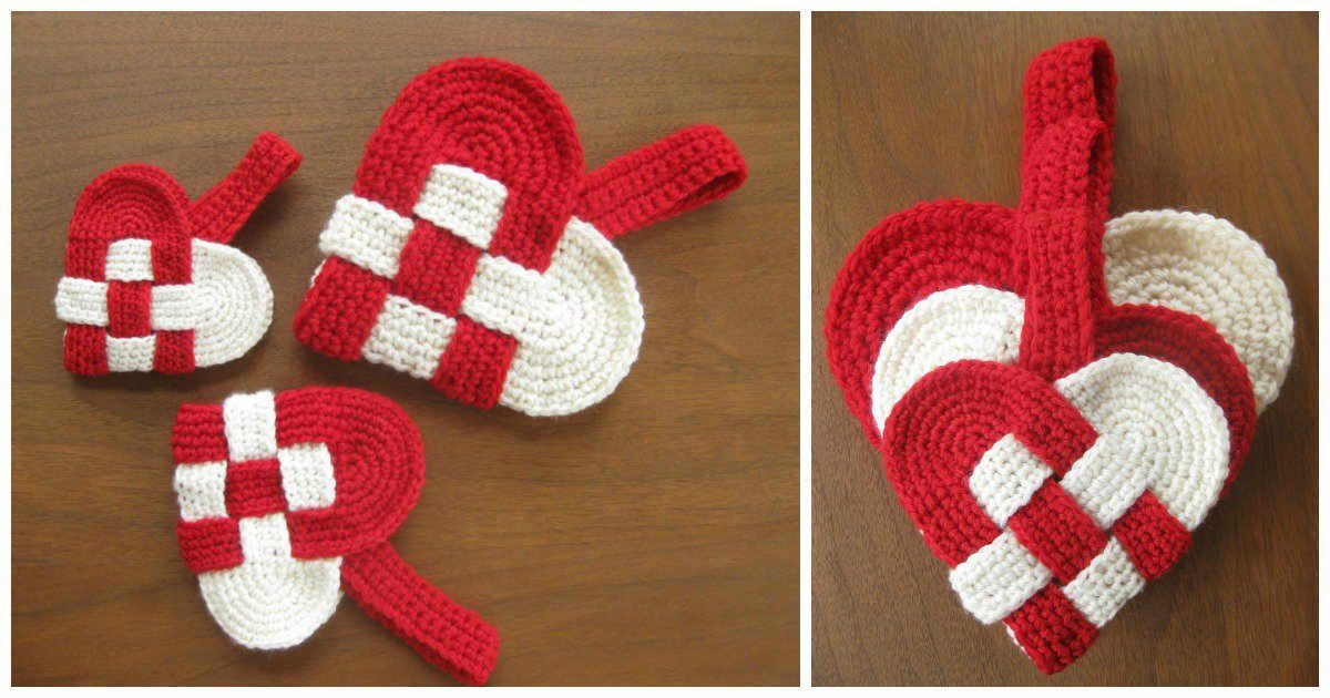 Free tutorial >> DIY Crochet Danish Heart | CROCHET | Pinterest