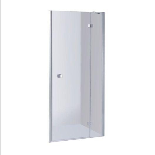 Porte De Douche Pivotante Sensea Premium 2 Verre Transparent Chromé