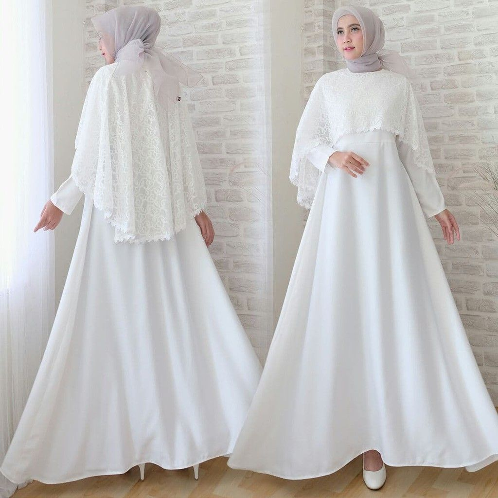Model Baju Gamis Nikah  Simple dresses, Abaya fashion, Fashion