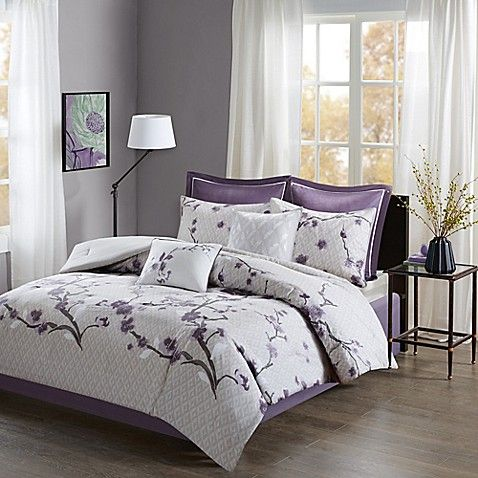 Madison Park Holly Comforter Set (mit Bildern) Lila bett